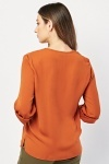 Button Front Wrap Blouse