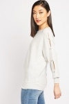Faux Pearl Trim Knit Jumper