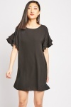 Ruffle Tiered Sleeve Dress