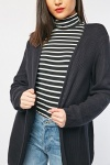 Textured Knit Long Line Cardigan