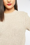 Two-Tone Speckled Knit Jumper