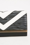 Colour Block Chevron Purse