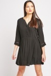 Button Front Smock Dress