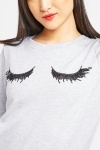 Eyelash Sequin Front Sweatshirt