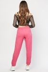 Pink Casual Jogging Bottoms