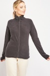 Zip Up Plain Poly-Fleece Jacket