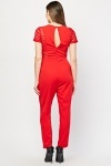 Crochet Side Panel Jumpsuit