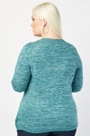 Speckled Ribbed Trim Jumper