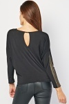 Metallic Dotted Sleeve Panel Top