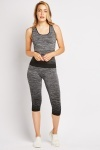 Speckled Crop Leggings And Top Set
