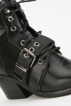 Cut Out Contrasted Boots