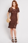 Flared Sleeve Lace Dress