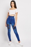 Distressed High Waisted Jeggings