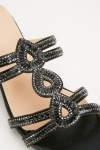 Encrusted Strappy Block Heels