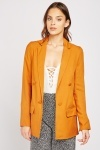 Button Detail Long Blazer