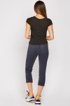 Plain Crop Chino Trousers