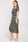 Gathered Waist Stripe Dress