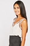 Embroidered Organza Chiffon Top