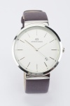 Faux Leather Strap Dial Watch