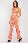 Printed Tie Up Strap Jumpsuit
