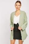 Belted Plain Jacket