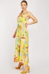 Tropical Print Cotton Maxi Dress