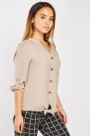 Petite Single Pocket Front Blouse