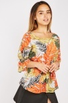 Tropical Batwing Sleeve Blouse