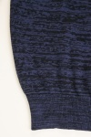 Speckled Contrast Cotton Knit Sweater