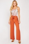 Buttoned Side Straight Leg Trousers