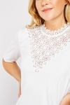 Crochet Insert Short Sleeve Top