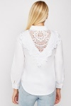 Crochet Back Detail Shirt