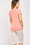 Flamingo Print Cotton Pyjama Set
