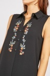 Flower Embroidered Midi Top