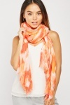 Multi Coloured Print Scarf