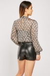 Faux Leather Black Shorts