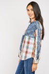 Madras Checked Mixed Print Shirt