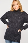 Chunky Cable Knitted Roll Neck Jumper