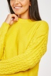 Cable Knit Panel Knit Jumper