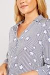 Star Pattern Striped Shirt