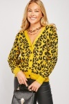 Cheetah Print Knit Cardigan