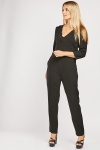 Scallop Trim Jumpsuit