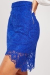 Lace Royal Blue Skirt