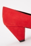Red Suedette Heels