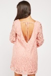 Lace Overlay Babydoll Dress