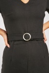 O-Ring Belted Pencil Dress