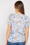 Gathered Neck Floral Blouse