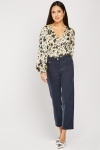 Slim Fit Crop Trousers