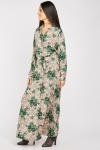 Flower Scattered Maxi Coton Dress