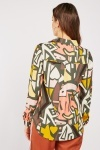 Art Deco Print Viscose Shirt